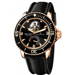 Blancpain Men's 5025 Fifty Fathoms Tourbillon Rose Gold Watch